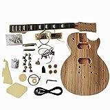 à bricoler soi-même guitare électrique Kits, gd790 style solide caisse en acajou avec bois de zèbre placage