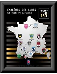 Ligue Nationale de Rugby - Collection de pins emblèmes des équipes du TOP 14 - 2017/18