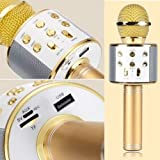#7: Brobeat Ws-858S Karaoke Mic Wireless, Handheld Singing Machine Condenser Microphones Mic And Bluetooth Speaker (Assorted Colour)