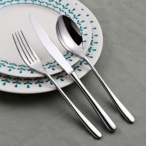 Besteck Luxury Besteck Edelstahl Geschirr Besteck Messergabel Löffel (Silver ST), 3-teiliges Set - Dj-besteck