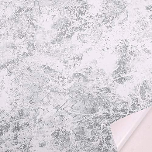 lsaiyy Imitation Marmor Tapete Küche TV Hintergrund Wand Selbstklebende Dicke wasserdichte Tapete-45CMX10M