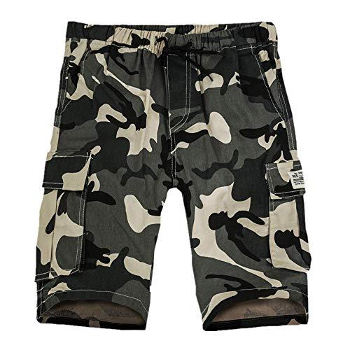 Herren Shorts Cargo Summer Fashion Shorts Camouflage Lounge Freizeitshorts Multi-Pockets Khaki XL - Multi Pocket Shorts