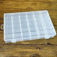 Gankmachine 36 Caja de joyería Rejillas de plástico Transparente del Organizador del almacenaje de contenedores con