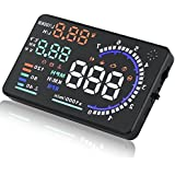 "SKS Distribution® Universal Coche HUD Head Up pantalla A8 5.5 ""GPS velocímetro Smart Digital coche Velocímetro OBD2 interfaz"