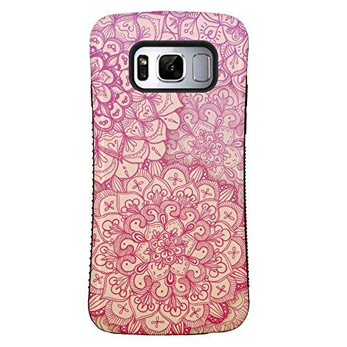 ZUSLAB Galaxy S8 Hülle, Mandala Henna Muster Schwerschutz Fallschutz Extrem Hoher Schutzhülle Weich Rand Robust Stoßfest handyhülle für Samsung Galaxy S8 [Face][Pink Mandala] - Pink Henna