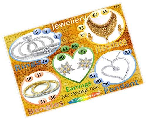 Party Stuff Jewellery Theme Tambola Housie Tickets - Jewellery kukuba 3 - Designer Kukuba (16 Cards) | Kitty Games