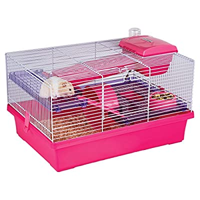 Rosewood Pico Hamster Cage, Pink by Rosewood
