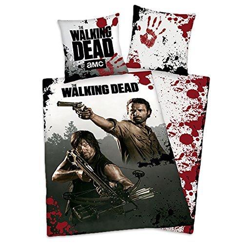 """Preisvergleich Produktbild The Walking Dead Bettwäsche """"Rick & Daryl Survivors"""" - Fotodruck, aus 100% Baumwolle/Linon (80x80/135x200cm), mit Reißverschluss. by Elbenwald"""