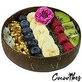 Cocovibes Kokosnuss Schale   Buddha Bowl   Deko Schüssel - 100% Natürlich (poliert) Handgemacht und Umweltfreundlich