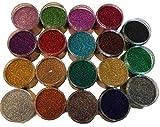 200ml Dose Glitzer – Hochglänzender Glitter – Kleine Partikelgröße zum Basteln Mischen Dekorieren Verschönern & selber Machen -20 Farben auswählbar- (Schwarz)