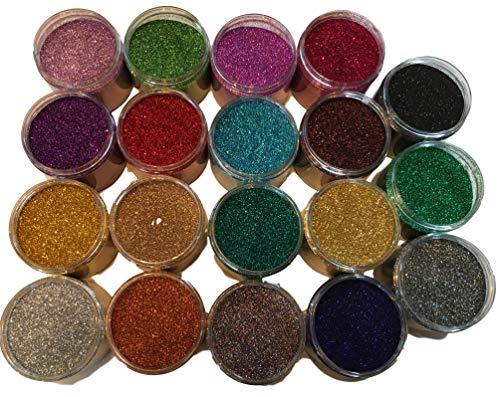 200ml Dose Glitzer - Hochglänzender Glitter - Kleine Partikelgröße zum Basteln Mischen Dekorieren Verschönern & selber Machen -20 Farben auswählbar- (Schwarz) -