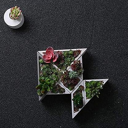 Laileya Concreto Planter de Silicona del Molde geométricas Plantas decoración del hogar artesanía del encapsulamiento suculentas florero Cemento Moldes