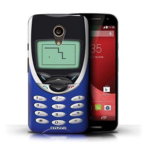 Kobalt® Imprimé Etui / Coque pour Motorola Moto G (2014) / Nokia 3310 blanc conception / Série Portables rétro Nokia 8210 Marine