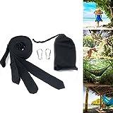 1 Paar Swing Hanging Gurt Kit Aufhängeset für Schaukel Hängematten Camping Nylon Befestigungsset 300cm*5cm Max 300kg (Schwarz)
