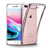 iPhone 8 Plus Hülle, iPhone 7 Plus Silikonhülle,KKtick Schutzhülle Apple iPhone 8 Plus Kratzfeste Plating TPU [Ultra Slim] Rutschfeste Handyhülle für iPhone 8 Plus/iPhone 7 Plus Case Cover- Rose Gold