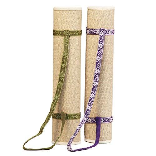 Yoga Trage-Gurt, Nylon-Tragegurt für Yogamatten, leicht & robust, flexibel anpassbar, Yogamatte Haltegurt, Yoga Strap (lila)
