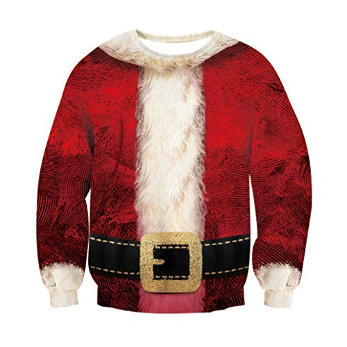 Rave on Friday Christmas Pullover Jumper Weihnachts Anzug Grafik Ugly Christmas Sweater Christmas Crewneck Sweatshirt Casual Sport M