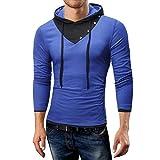 MRULIC Herren Langarmshirts Pullover Hoodies Fashion Sweatshirt Herbst Notwendigkeit(B-Blau,EU-44/CN-M)