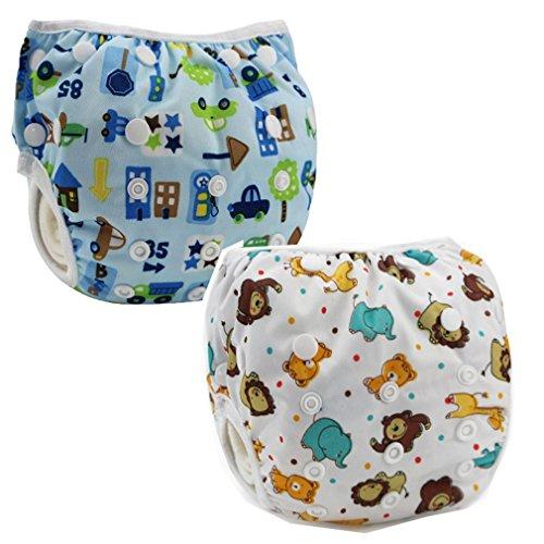 Preisvergleich Produktbild JT-Amigo 2er Pack Baby Badewindelhose Schwimmwindel, Set 3