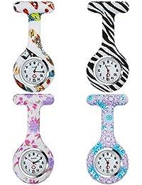 Anpro - Reloj de enfermera de silicona, 4 piezas, diseño de personal médico