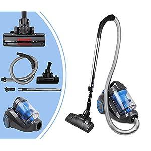 Leogreen - Zyklon Staubsauger, Bagless Vakuum Maschine, Blau, Kapazität des Staubbehälters: 2,5L, Maximale überdachte Fläche: 70 m²