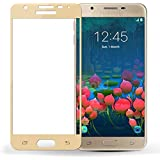 Samsung Galaxy J7 (2016) Tempered Glass Golden Screen Protector Edge To Edge Perfect Fit High Quality Glass 2.5D Round Edge 0.33mm Thickness 9H Hardness Oil Coated By MJ CREATION