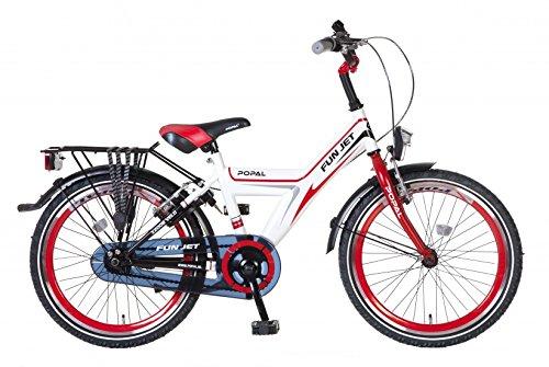 POPAL Kinderfahrrad - FunJet - 20 Zoll - Jungenfahrrad Fahrrad Jungs (rot / weiß)