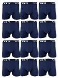 sockenkauf24 5 | 10 | 20 Boxershorts Baumwolle Men Herren Retro Shorts Unterhosen (XXXL | 9, 20 Stück | Blau)