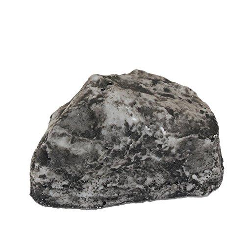 Shiningup Fake Rock Stein Key Box Looks und fühlt sich wie echte Stein Safe Hide Key unter Stein für Outdoor Garten oder Hof