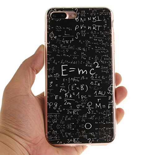 Pour iphone 5/5S/SE Coque,BLKJ Coque iPhone 5S TPU Clear Silicone Étui Housse Protecteur - 1 Gratuit Touch Pen (iphone 5/5s se, Mathematical Formula) Mathematical Formula