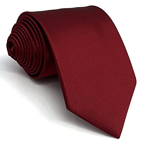 shlax&wing Solid Color Red Wedding Neckties For Men Classic Ties Fashion 63