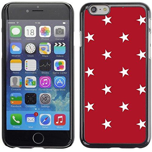 Graphic4You Sterne Muster Design Harte Hülle Case Tasche Schutzhülle für Apple iPhone 6 Plus / 6S Plus (Aqua Blau) Rot