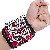 Alquar Magnetische Armbänder, mit 5 leistungsstarken Magneten Magnet Armbänder für Holding Werkzeuge, Schrauben, Nägel, Schrauben und kleine Werkzeuge Best Werkzeug Geschenk