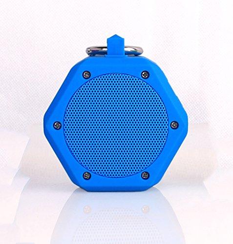YunMei beweglicher mini drahtloser Bluetooth Stereolautsprecher, vielzweckiger wasserdichter im Freien- / Dusche-Lautsprecher, mit 3W StereoBluetooth Lautsprecher BB-120 (blau)