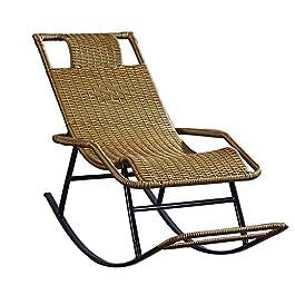 Chaise à Bascule Chaise en rotin à Bascule, Chaise Longue de Sun Fauteuil for terrasse de Jardin, terrasse, Fauteuil de…