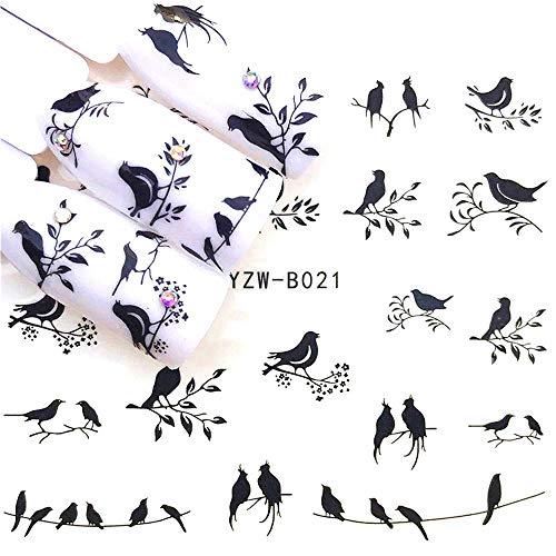 EROSPA® Nailart Nail-Tattoo Vogel Motiv - Nagel Sticker - Aufkleber - 22 Motive - Selbstklebend -