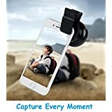 TRUE STORE; Universal Professional HD Camera Lens Kit For IPhone 6 6 Plus 5S 5 Samsung S6 S5 Note 4 3 0.45x Wide Angle Lens 12.5x Macro Lens Compatible To Samsung Galaxy J2/J5/J7