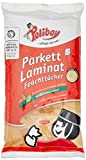 Poliboy Parkett/ Laminat-Feuchttücher, 4er Pack (4 x 15 Stück)