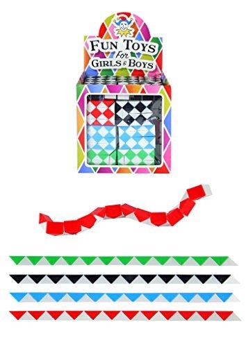 20 x Kinder Retro 22cm Mini Rubiks Würfel Schlange Kinder Partybeutel Spielzeug Füller