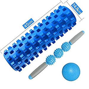 ZZSH Hohl Wolf-Förmige Yoga Spalte Massager Fascia Ball Set Hohlschaum Welle Balance Stick Pilates Yoga Welle Entspannung Muskel Set