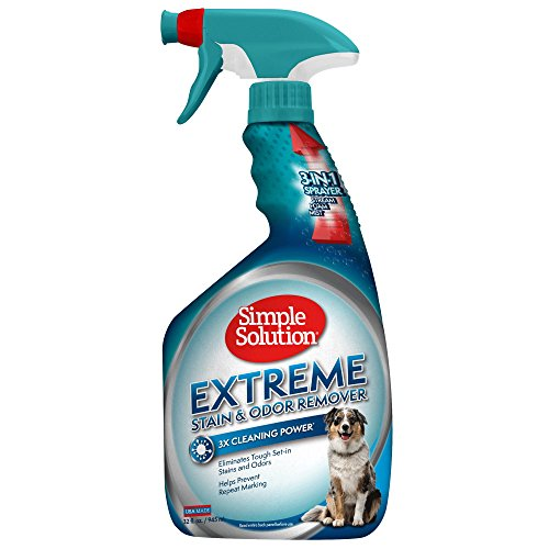Simple Solution Extreme - Removedor de Manchas y olores para perros, 945 ml