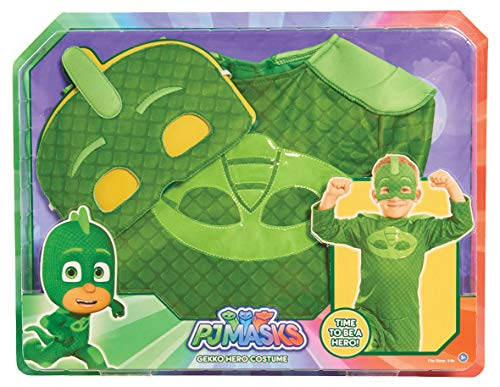 Jährigen Up 4 Dress Kostüm Für - JP PJ Masks jpl24603 Gekko Kostüm-Set