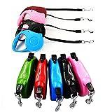 takestop® einziehbare Leine Flexi 3Meter Klebeband ausziehbar Rollo ausziehbar für Hunde bis 25kg Farbe zufällig