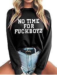 b5dd54ba41d9e3 Pullover Damen Bauchfrei, Teenager Mädchen Mode Brief Drucken Langarm Pullover  Kurz Pulli Casual Sweatshirt Crop