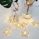 Leezo Pentagram Form LED Lichterkette 1.5m / 10 LED batteriebetriebenes Nachtlicht hängende Ornamente für die Feiertage Hochzeitsfeiern Indoor Schlafzimmer Garten Hochzeit Weihnachten