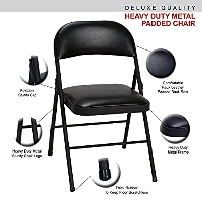 Deluxe Quality Faux Leather Padded Strong Metal Frame Home, Office and Computer Back Rest Chair