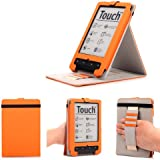 Mulbess - PocketBook Touch Lux 623 / Touch 622 / Touch Lux 2 626 / Basic Touch 624 eReader eBook Stand Cover Housse Étui en Cuir Coque de Transport avec Support Couleur Orange