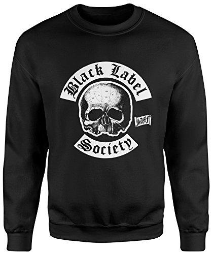 LaMAGLIERIA Unisex-Sweatshirt Black Label Society New Logo - Set-In Sweatshirt, M, Schwarz (Society Label Black Hoodie)