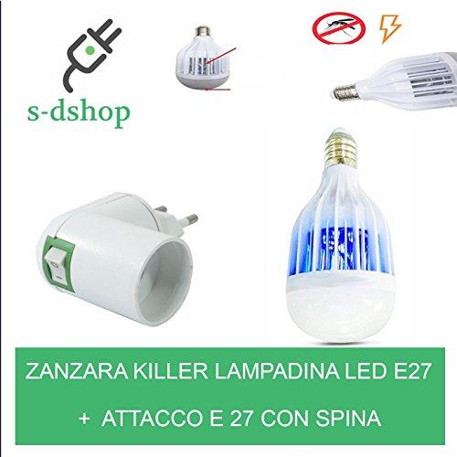 S-D SHOP - LAMPADINA LED E27 ANTI ZANZARA KILLER LAMPADA ANTI ZANZARE ZANZARIERA ELETTRICA