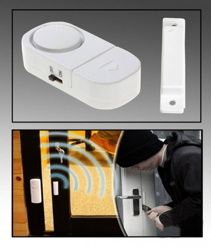 WIRELESS DOORS WINDOW HOME SECURITY ENTRY ALARM - One Set